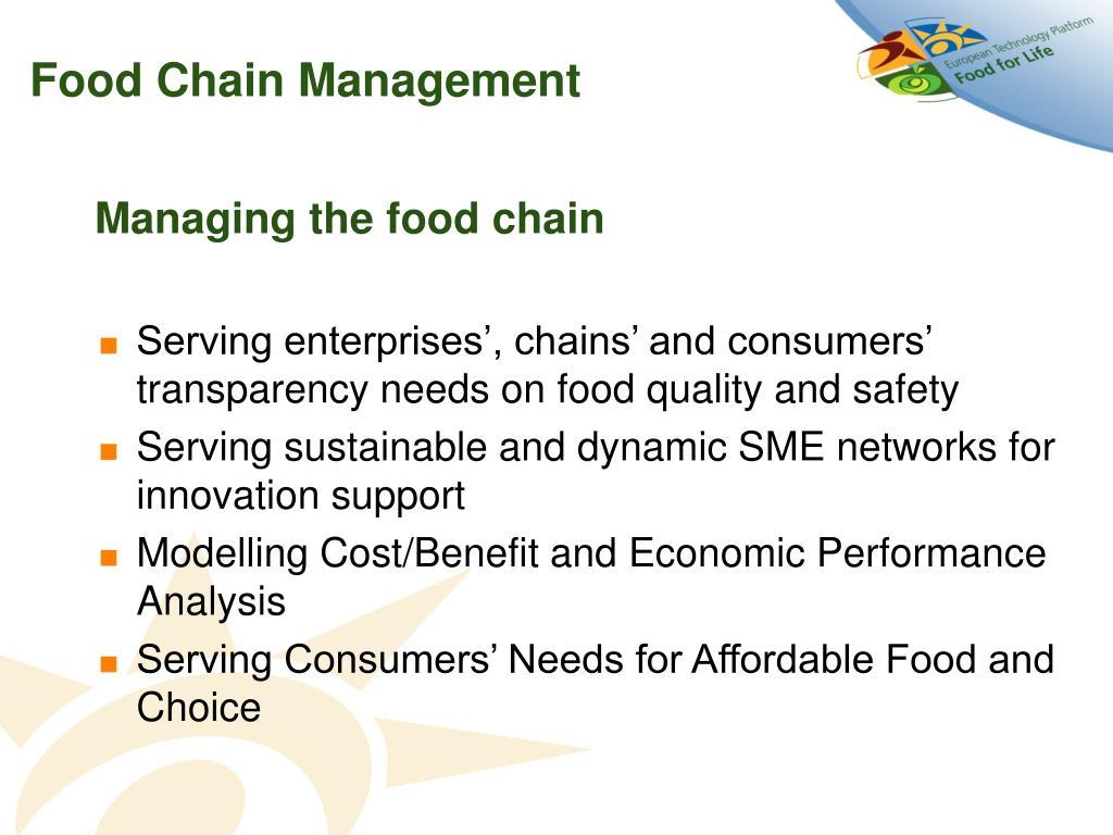 Food Chain Management
