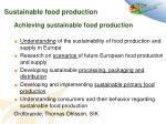 sustainable food production