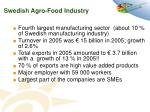 swedish agro food industry