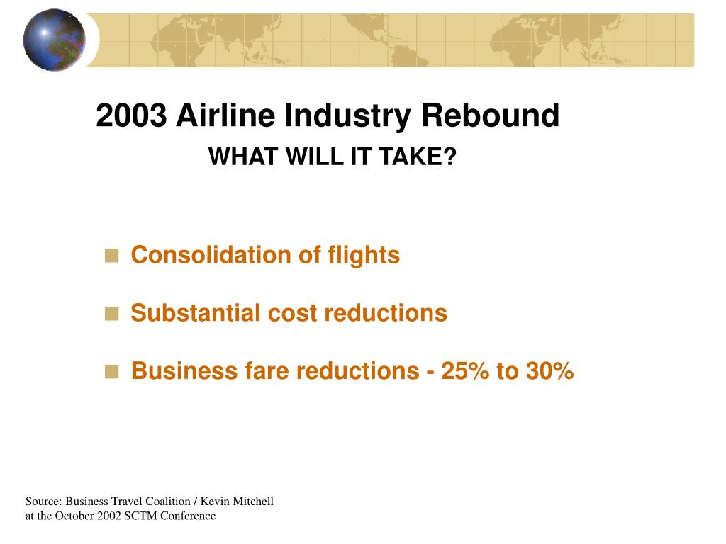 2003 Airline Industry Rebound