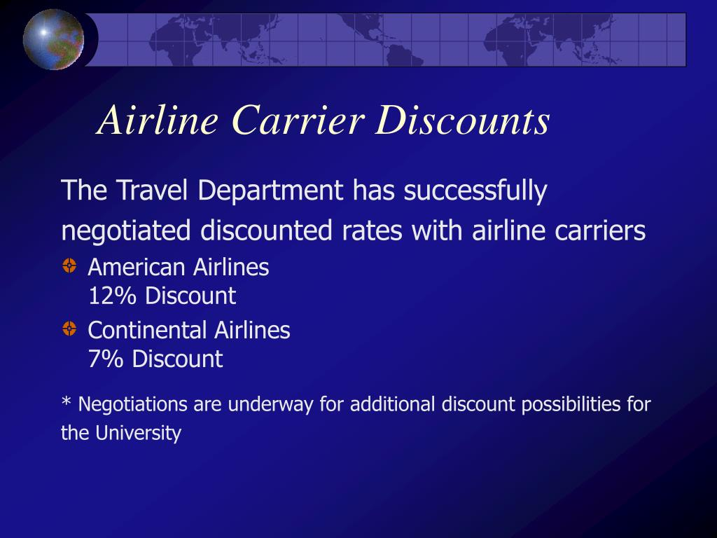Airline Carrier Discounts