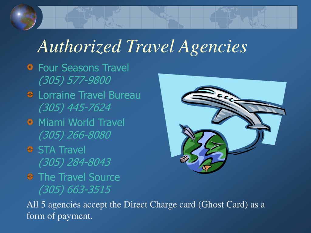 Authorized Travel Agencies