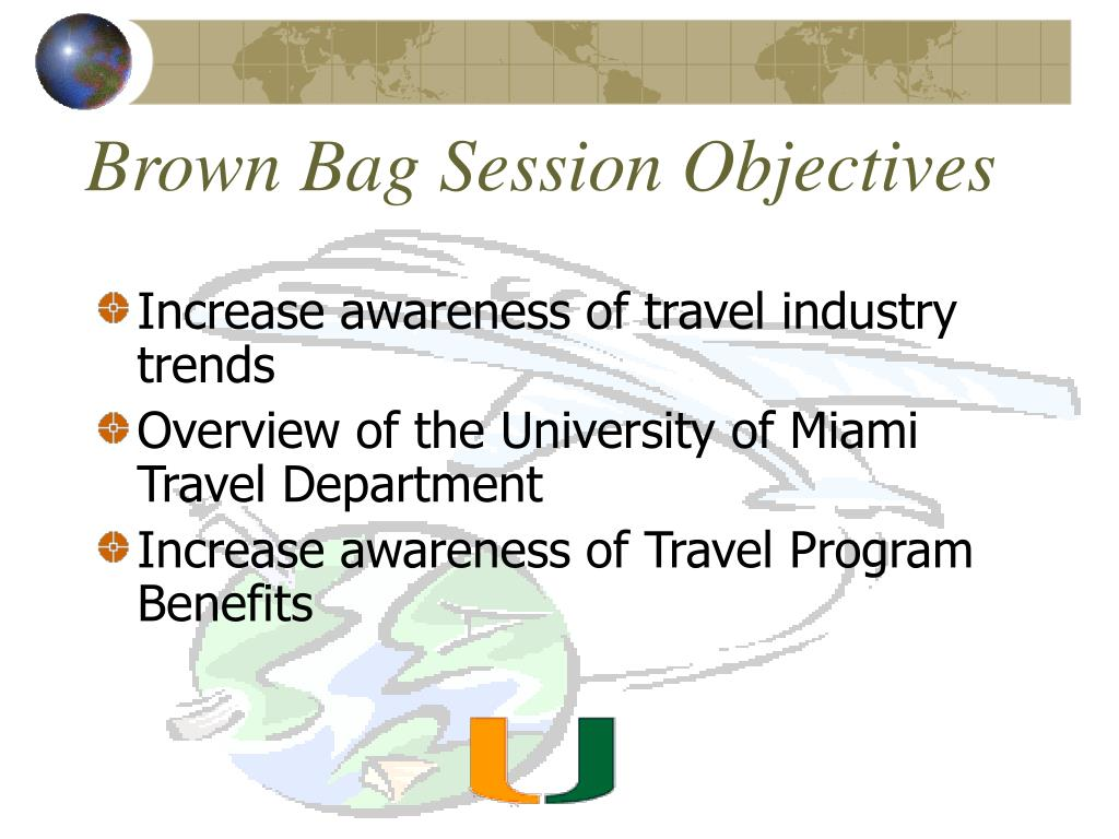brown bag session objectives l.