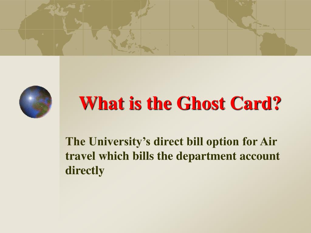 What is the Ghost Card?