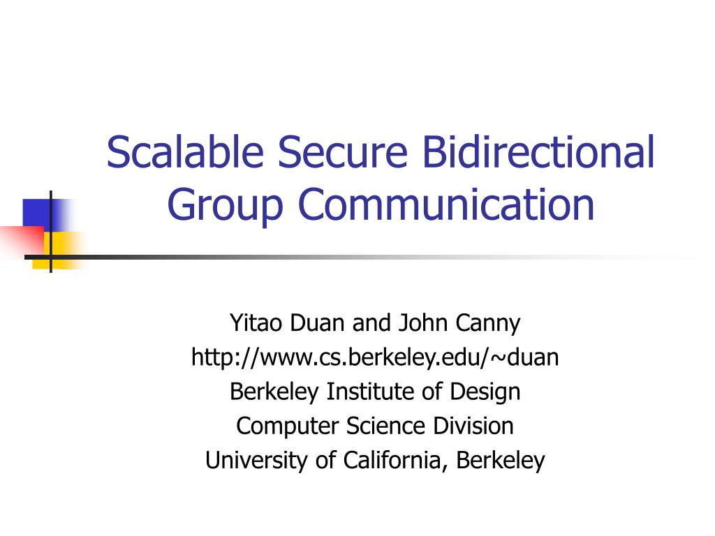 scalable secure bidirectional group communication l.