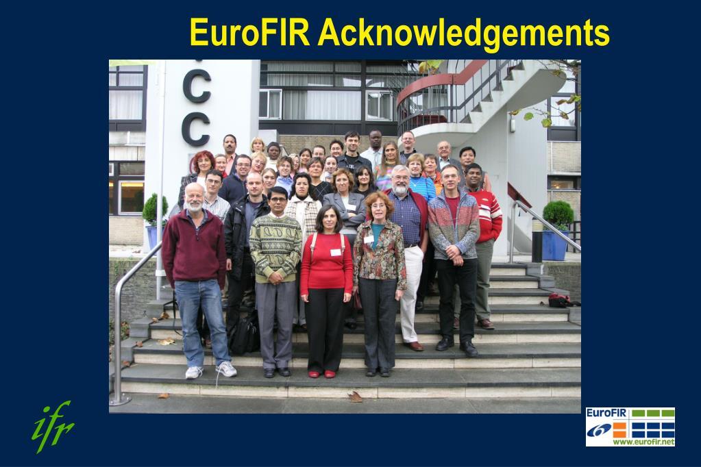 EuroFIR Acknowledgements