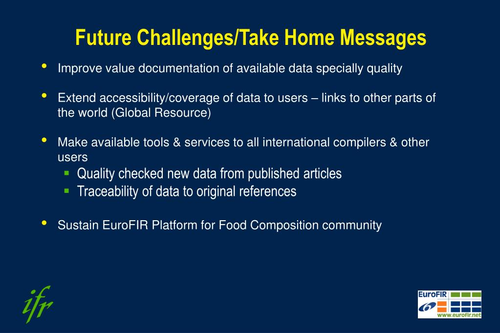 Future Challenges/Take Home Messages