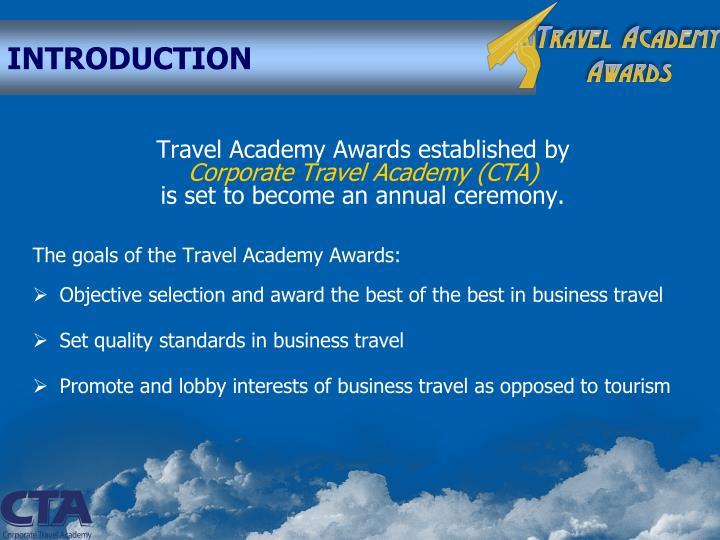 Travel Academy Awards established by