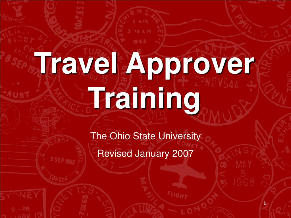travel approver training l.