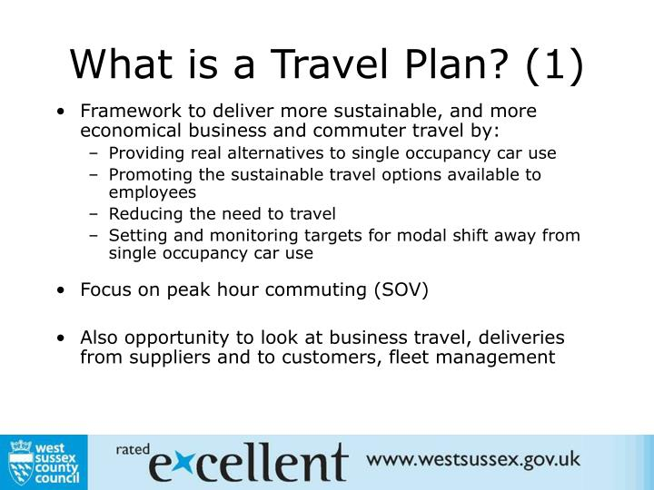What is a travel plan 1