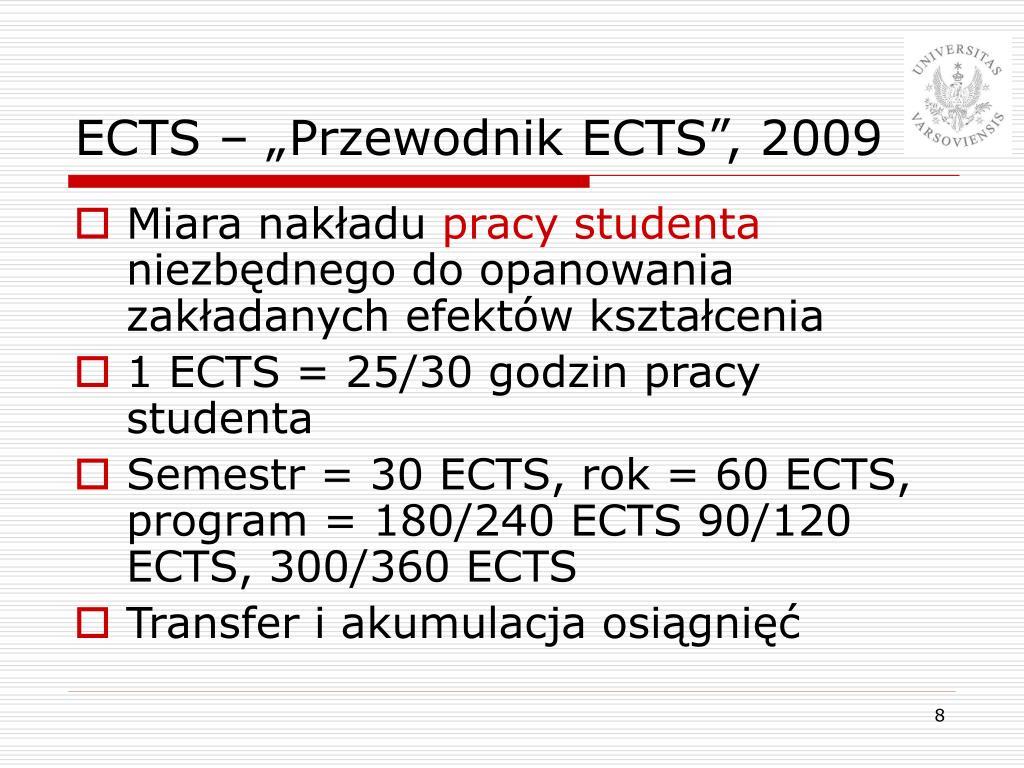 """ECTS – """"Przewodnik ECTS"""", 2009"""