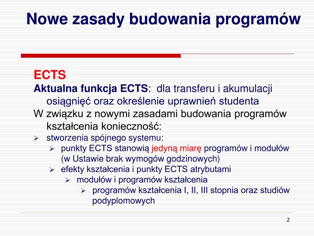 Nowe zasady budowania programów