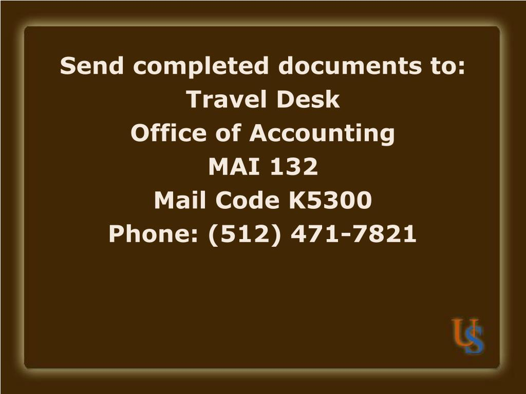Send completed documents to: