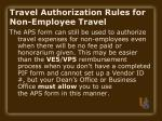 travel authorization rules for non employee travel14