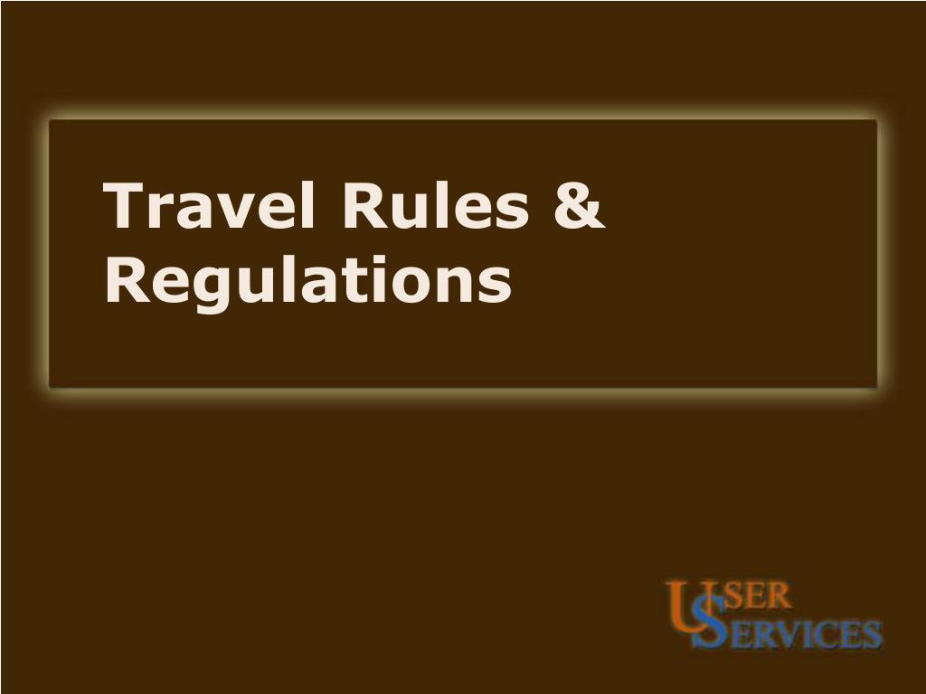 travel rules regulations l.