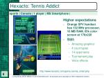 hexacto tennis addict