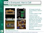 soe s everquest hero s call