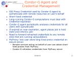 condor g agent and credential management