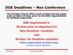 doe deadlines non conference
