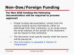 non doe foreign funding