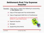 settlement post trip expense voucher