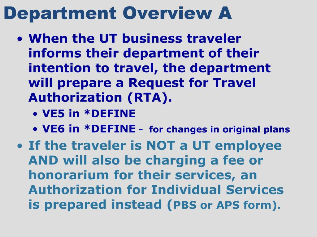 Department Overview A