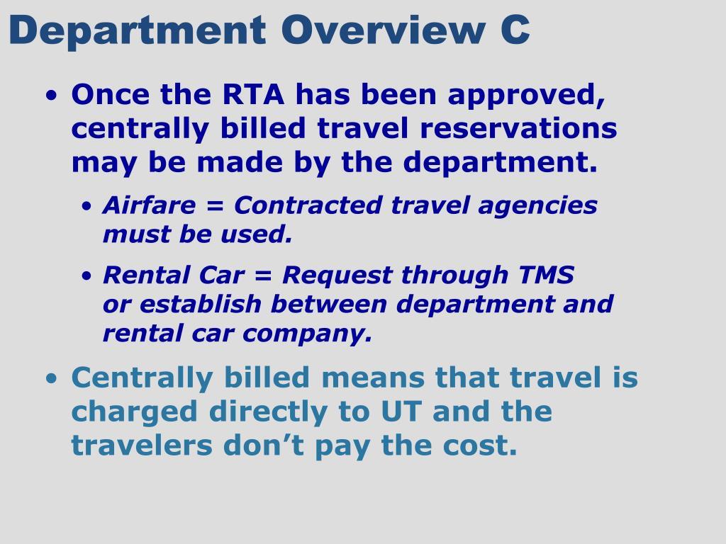 Department Overview C