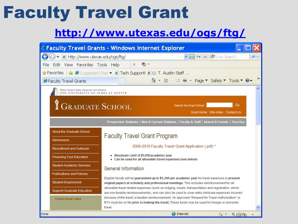 Faculty Travel Grant