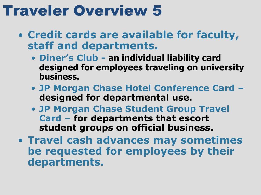 Traveler Overview 5