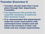 traveler overview 6