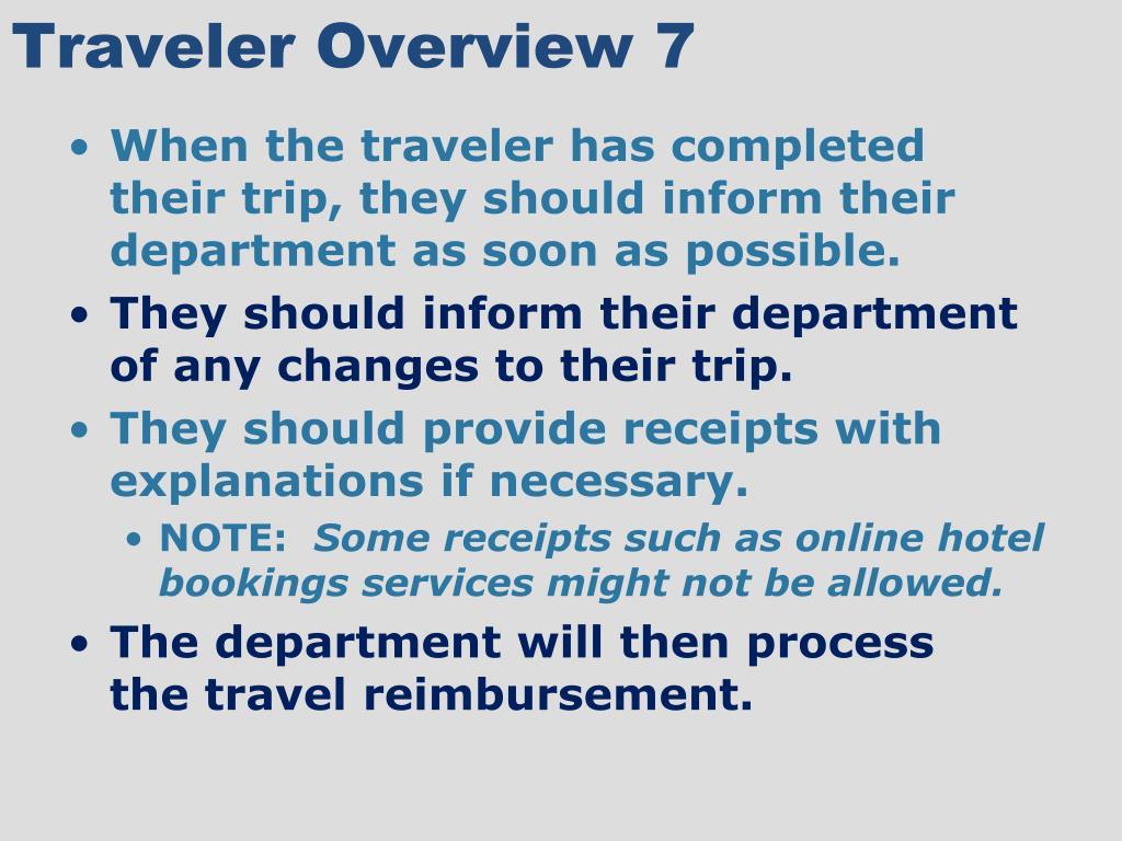 Traveler Overview 7