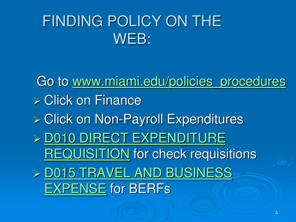 FINDING POLICY ON THE WEB: