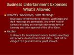 business entertainment expenses what s allowed13