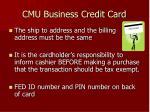 cmu business credit card8