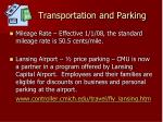 transportation and parking
