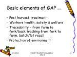 basic elements of gap contd