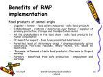 benefits of rmp implementation