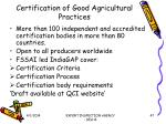 certification of good agricultural practices