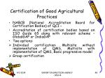 certification of good agricultural practices48