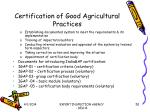 certification of good agricultural practices50