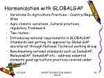 harmonization with globalgap