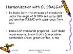 harmonization with globalgap46