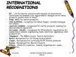 international recognitions