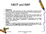 nrcp and rmp