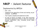 nrcp salient features