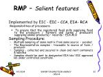 rmp salient features