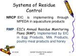systems of residue control
