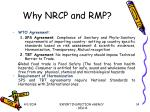 why nrcp and rmp