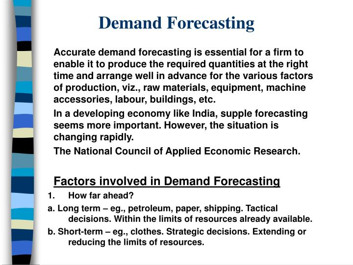 Demand forecasting2