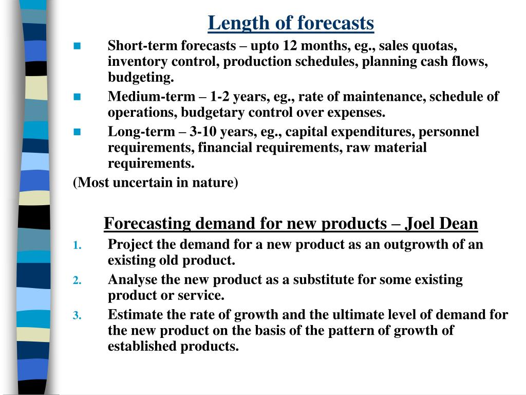 Length of forecasts